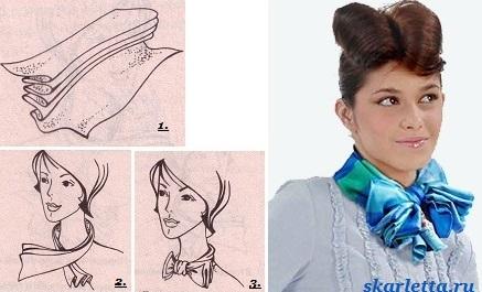 Как-завязать-платок-на-шее-1