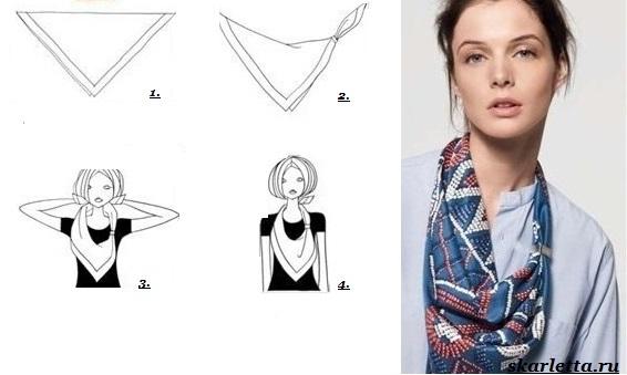 Как-завязать-платок-на-шее-14