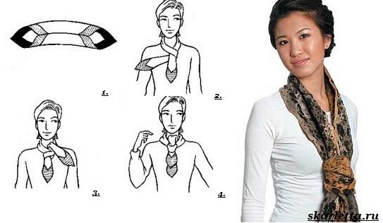Как-завязать-платок-на-шее-8