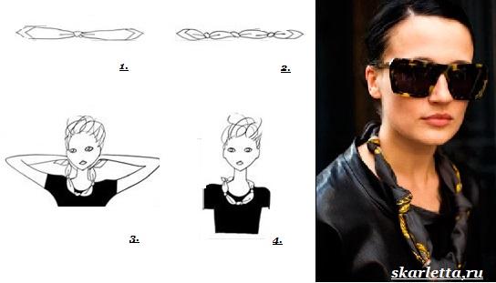 Как-завязать-платок-на-шее-9