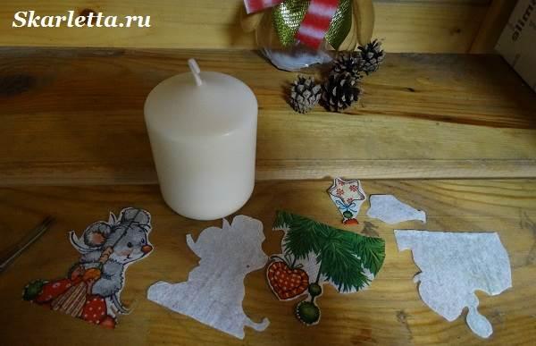 Декупаж-свечи-новогодний-дизайн-3