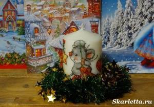 Декупаж-свечи-новогодний-дизайн-8