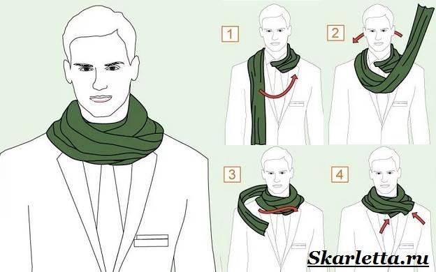 Как-завязать-шарф-на-шее-Способы-завязать-шарф-схемы-и-фото-23