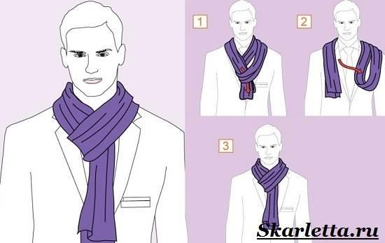 Как-завязать-шарф-на-шее-Способы-завязать-шарф-схемы-и-фото-24