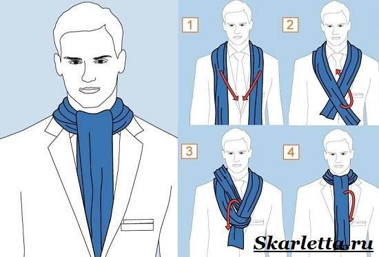 Как-завязать-шарф-на-шее-Способы-завязать-шарф-схемы-и-фото-25