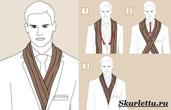 Как-завязать-шарф-на-шее-Способы-завязать-шарф-схемы-и-фото-27