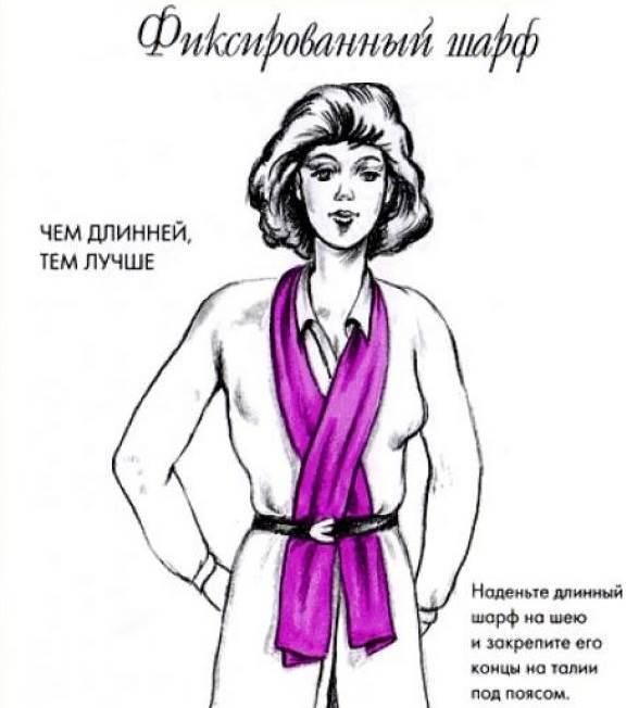 Как-завязать-шарф-на-шее-Способы-завязать-шарф-схемы-и-фото-37