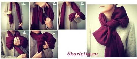 Как-завязать-шарф-на-шее-Способы-завязать-шарф-схемы-и-фото-38