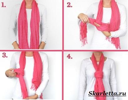 Как-завязать-шарф-на-шее-Способы-завязать-шарф-схемы-и-фото-39
