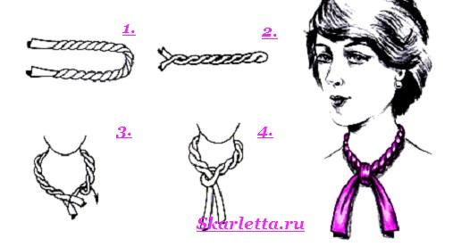 Как-завязать-шарф-на-шее-Способы-завязать-шарф-схемы-и-фото-50